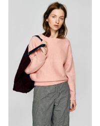 Bellerose - Pink Gyrdie Rose Melange Sweater - Lyst