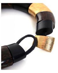 Monies - Gray Ebony Choker Necklace - Lyst