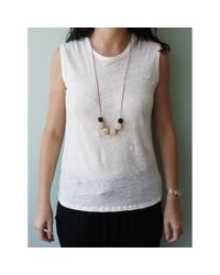 Spectrum | Gray Faceted Mixed Wood Necklace | Lyst