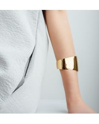 AUrate New York - Yellow Tapered Solid Cuff - Lyst