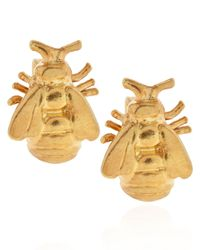 Alex Monroe | Metallic Gold Plated Bumblebee Stud Earrings | Lyst