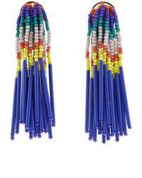Lele Sadoughi | Blue Island Hue Beaded Fringe Earrings | Lyst