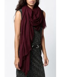 Azalea - Purple Lightweight Scarf - Lyst