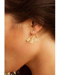 Pamela Love - Metallic Triple Arrow Earring - Lyst