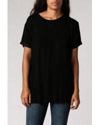 Anine Bing | Black Raw Hem T-shirt | Lyst