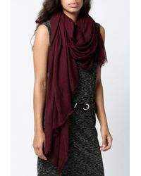 Azalea | Purple Lightweight Scarf | Lyst