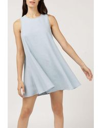 Native Youth - Blue Japanese Tack Stitch Tent Dress - Lyst