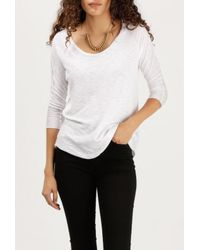 Azalea | White Clara L/s Raglan T-shirt | Lyst