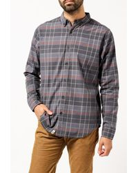 ourCaste   Gray Kevin L/s Shirt for Men   Lyst