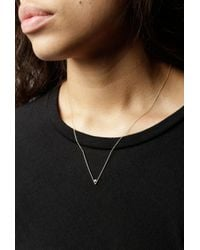 Gabriela Artigas - Metallic Diamond V Necklace - Lyst
