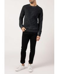Nudie Jeans - Seven Blackened Indigo Sweatshirt for Men - Lyst