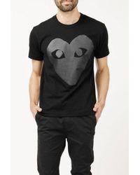 Play Comme des Garçons - Black Emblem S/s T-shirt for Men - Lyst