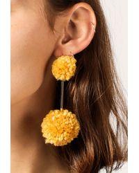 Tuleste - Metallic Mini Yarn Pom Pom Earrings - Lyst