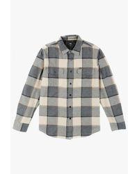 Obey - Blue Belmont L/s Shirt for Men - Lyst