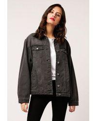 Azalea - Faded Black Denim Jacket - Lyst