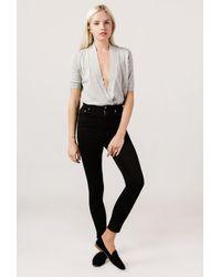 Azalea - Gray Crossover S/s Sweater Top - Lyst
