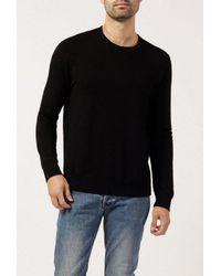 Monrow - Black Crew Neck Sweatshirt for Men - Lyst