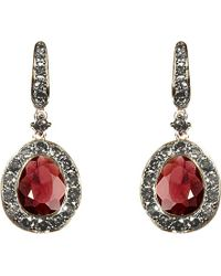 Annoushka | Red Dusty Diamonds 18ct White-gold, Pavé Diamond And Rhodolite Garnet Drop Earrings | Lyst