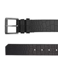Jimmy Choo | White Archer Black Croc Embossed Leather Belt for Men | Lyst