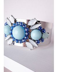 Missguided | Multicolor Statement Gem Detail Cuff Multi | Lyst