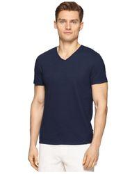 Calvin Klein - Blue V-neck Slim-fit T-shirt for Men - Lyst
