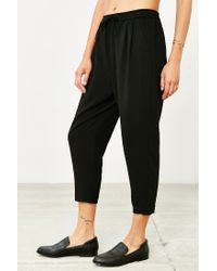 Silence + Noise - Black Cropped Trouser - Lyst