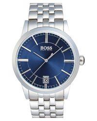 BOSS - Blue Sunray Dial Bracelet Watch for Men - Lyst