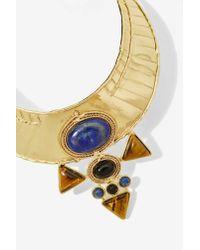 Nasty Gal | Metallic From St. Xavier Jacinta Collar Necklace | Lyst