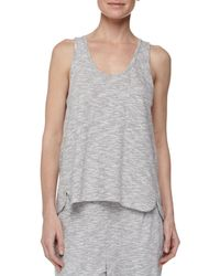 Skin - Metallic Piped Wing Jersey Tank - Lyst