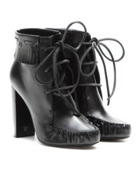 Tom Ford - Black Santa Fe Leather Ankle Boots - Lyst