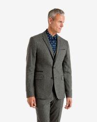 Ted Baker - Gray Wool-blend Jacket for Men - Lyst
