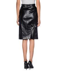 Sonia Rykiel - Black Knee Length Skirt - Lyst