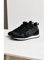 Nike | Black Internationalist Mid Sneaker | Lyst