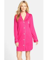 Lauren by Ralph Lauren | Pink Knit Nightshirt | Lyst