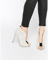 ASOS - Publisher High Heels - Gray - Lyst