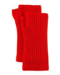 Rag & Bone - Red Alexis Cashmere Fingerless Gloves - Lyst