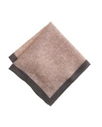 J.Crew - Gray Italian Wool Pocket Square for Men - Lyst