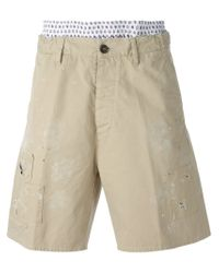 DSquared² - Natural Paint Splatter Chino Shorts for Men - Lyst