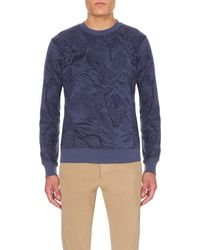 Paul Smith - Blue Sketch-print Jersey Sweatshirt for Men - Lyst