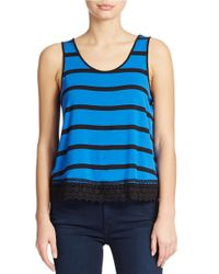 Kensie | Blue Striped Tank Top | Lyst