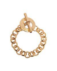 Marc By Marc Jacobs | Metallic Skinny Logo Bangle Bracelet | Lyst