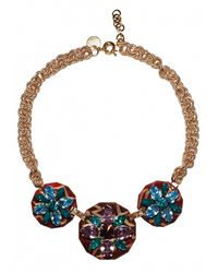 Matthew Williamson | Blue Floral Charm Necklace | Lyst