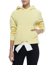 Acne Studios - Yellow Drawstring Cotton-Blend Sweatshirt - Lyst