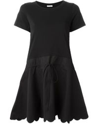 See By Chloé - Black See By Chloé Shortsleeved Flared Dress - Lyst