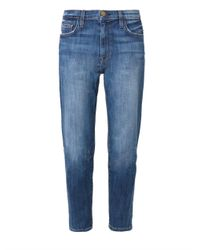 Current/Elliott - Blue The Slouchy Boyfriend Low-Rise Stretch-Denim Jeans - Lyst