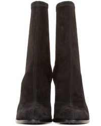 Alexander Wang | Black Stretch Suede Gia Boots | Lyst