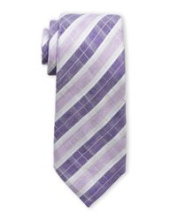 Vince Camuto | Purple Piazza Plaid Linen Tie for Men | Lyst