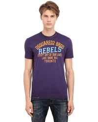 DSquared² - Purple Rebels Printed Surf Fit Cotton T-Shirt for Men - Lyst