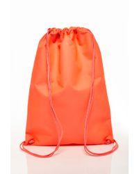 Forever 21 - Orange Classic Drawstring Backpack for Men - Lyst