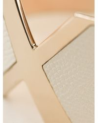 Valextra - Pink Textured Leather Bangle - Lyst